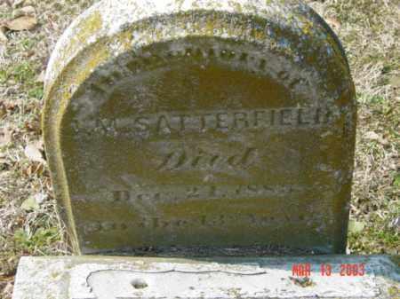 SATTERFIELD, J. M. - Talbot County, Maryland   J. M. SATTERFIELD - Maryland Gravestone Photos