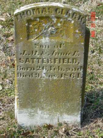 SATTERFIELD, THOMAS CLARK - Talbot County, Maryland   THOMAS CLARK SATTERFIELD - Maryland Gravestone Photos