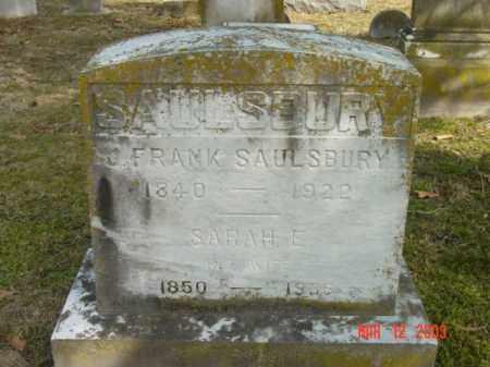 SAULSBURY, SARAH E. - Talbot County, Maryland | SARAH E. SAULSBURY - Maryland Gravestone Photos