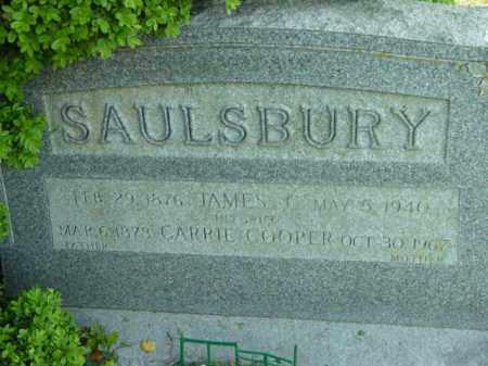 COOPER SAULSBURY, CARRIE - Talbot County, Maryland | CARRIE COOPER SAULSBURY - Maryland Gravestone Photos