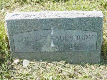 SAULSBURY, JOHN E. - Talbot County, Maryland   JOHN E. SAULSBURY - Maryland Gravestone Photos