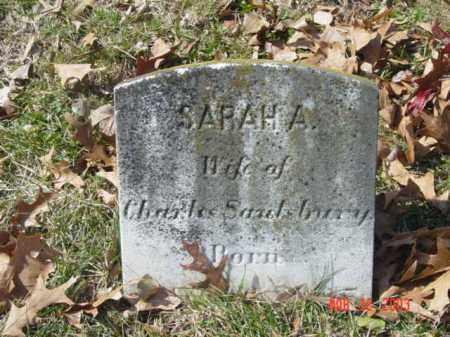 SAULSBURY, SARAH A. - Talbot County, Maryland | SARAH A. SAULSBURY - Maryland Gravestone Photos