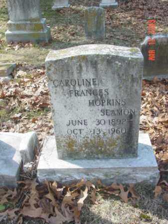 SEAMON, CAROLINE FRANCES HOPKINS - Talbot County, Maryland | CAROLINE FRANCES HOPKINS SEAMON - Maryland Gravestone Photos