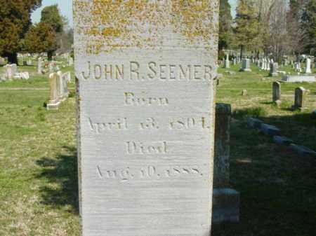 SEEMER, JOHN R. - Talbot County, Maryland | JOHN R. SEEMER - Maryland Gravestone Photos