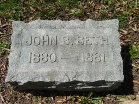 SETH, JOHN B. - Talbot County, Maryland   JOHN B. SETH - Maryland Gravestone Photos