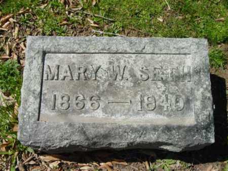 SETH, MARY W. - Talbot County, Maryland   MARY W. SETH - Maryland Gravestone Photos