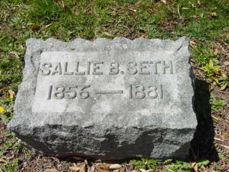 SETH, SALLIE B. - Talbot County, Maryland | SALLIE B. SETH - Maryland Gravestone Photos