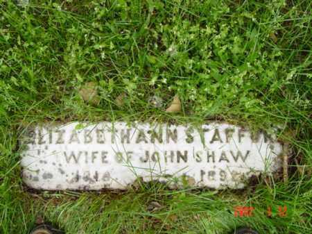 STAFFORD SHAW, ELIZABETH ANN - Talbot County, Maryland | ELIZABETH ANN STAFFORD SHAW - Maryland Gravestone Photos