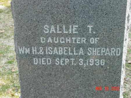 SHEPARD, SALLIE T. - Talbot County, Maryland | SALLIE T. SHEPARD - Maryland Gravestone Photos