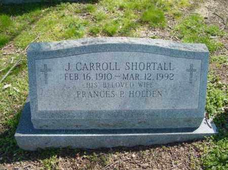 SHORTALL, J. CARROLL - Talbot County, Maryland | J. CARROLL SHORTALL - Maryland Gravestone Photos