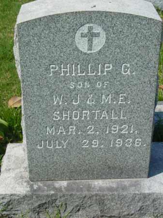 SHORTALL, PHILLIP G. - Talbot County, Maryland   PHILLIP G. SHORTALL - Maryland Gravestone Photos