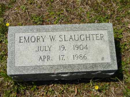 SLAUGHTER, EMORY W. - Talbot County, Maryland | EMORY W. SLAUGHTER - Maryland Gravestone Photos