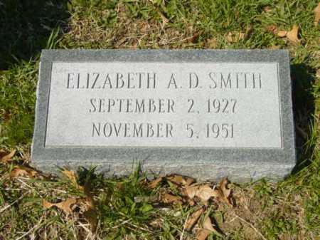 SMITH, ELIZABETH A. D. - Talbot County, Maryland   ELIZABETH A. D. SMITH - Maryland Gravestone Photos