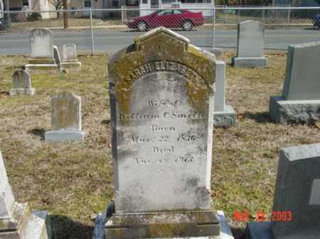 SMITH, SARAH ELIZABETH - Talbot County, Maryland | SARAH ELIZABETH SMITH - Maryland Gravestone Photos