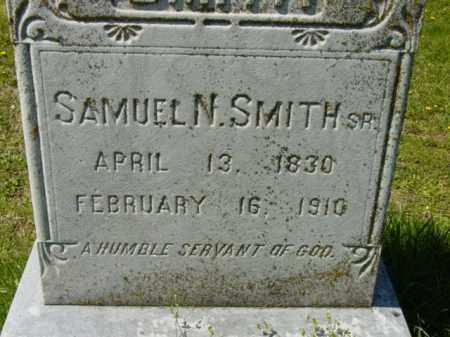 SMITH SR., SAMUEL N. - Talbot County, Maryland | SAMUEL N. SMITH SR. - Maryland Gravestone Photos