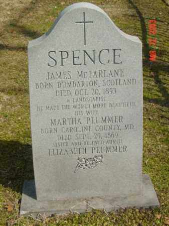 SPENCE, JAMES MCFARLANE - Talbot County, Maryland | JAMES MCFARLANE SPENCE - Maryland Gravestone Photos