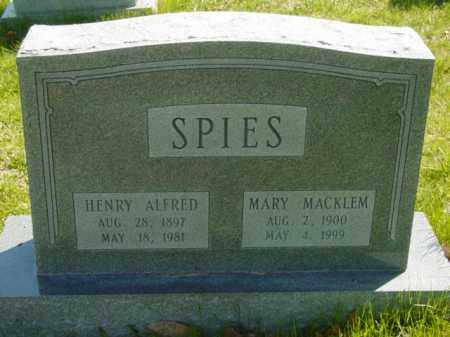 SPIES, MARY - Talbot County, Maryland | MARY SPIES - Maryland Gravestone Photos