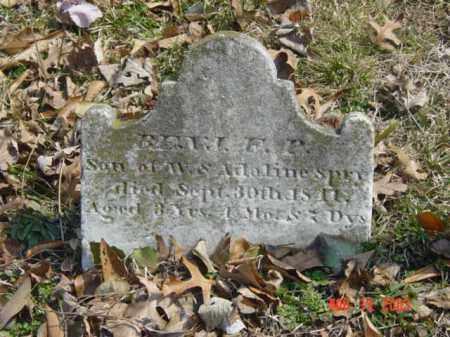 SPRY, BENJ. F. P. - Talbot County, Maryland | BENJ. F. P. SPRY - Maryland Gravestone Photos