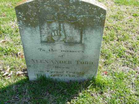 TODD, ALEXANDER - Talbot County, Maryland | ALEXANDER TODD - Maryland Gravestone Photos