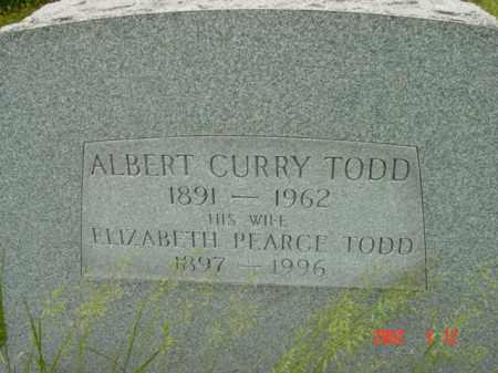 TODD, ALBERT CURRY - Talbot County, Maryland | ALBERT CURRY TODD - Maryland Gravestone Photos