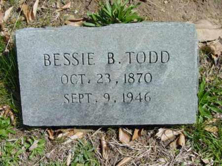 TODD, BESSIE B. - Talbot County, Maryland | BESSIE B. TODD - Maryland Gravestone Photos