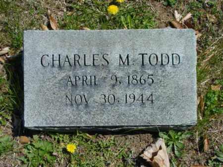 TODD, CHARLES M. - Talbot County, Maryland | CHARLES M. TODD - Maryland Gravestone Photos