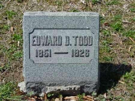 TODD, EDWARD D. - Talbot County, Maryland | EDWARD D. TODD - Maryland Gravestone Photos