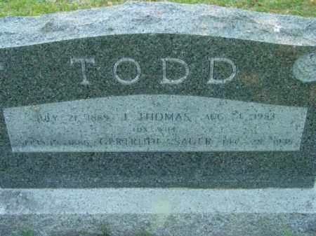 TODD, GERTRUDE - Talbot County, Maryland | GERTRUDE TODD - Maryland Gravestone Photos
