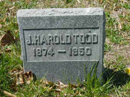 TODD, J. HAROLD - Talbot County, Maryland | J. HAROLD TODD - Maryland Gravestone Photos