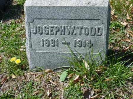 TODD, JOSEPH W. - Talbot County, Maryland | JOSEPH W. TODD - Maryland Gravestone Photos