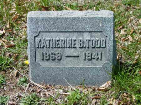 TODD, KATHERINE B. - Talbot County, Maryland | KATHERINE B. TODD - Maryland Gravestone Photos