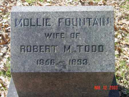 TODD, MOLLIE FOUNTAIN - Talbot County, Maryland | MOLLIE FOUNTAIN TODD - Maryland Gravestone Photos