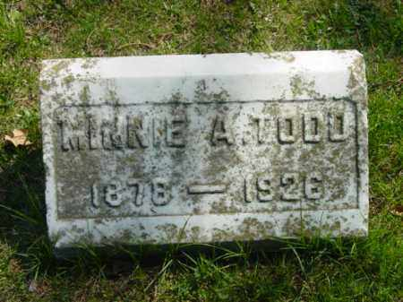 TODD, MINNIE A. - Talbot County, Maryland | MINNIE A. TODD - Maryland Gravestone Photos