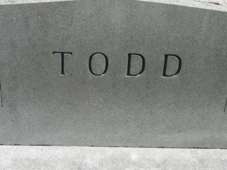 TODD, MONUMENT - Talbot County, Maryland | MONUMENT TODD - Maryland Gravestone Photos