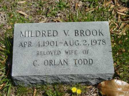 TODD, MILDRED V. - Talbot County, Maryland | MILDRED V. TODD - Maryland Gravestone Photos