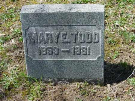TODD, MARY E. - Talbot County, Maryland   MARY E. TODD - Maryland Gravestone Photos