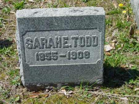 TODD, SARAH E. - Talbot County, Maryland | SARAH E. TODD - Maryland Gravestone Photos