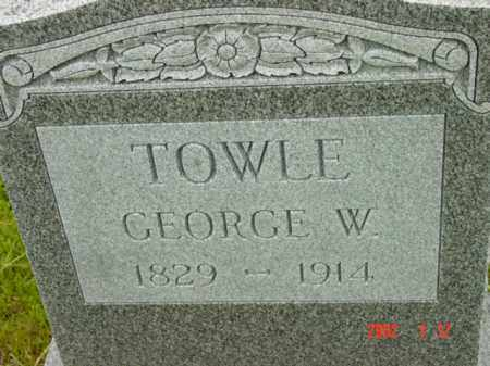 TOWLE, GEORGE W. - Talbot County, Maryland | GEORGE W. TOWLE - Maryland Gravestone Photos