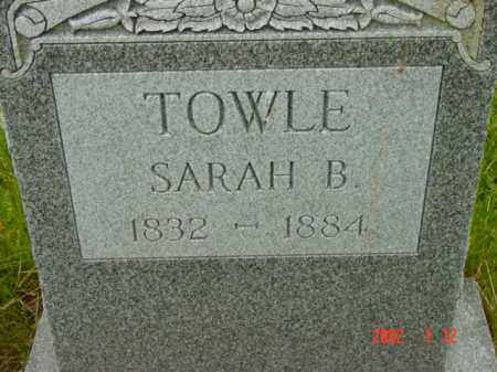 TOWLE, SARAH B. - Talbot County, Maryland | SARAH B. TOWLE - Maryland Gravestone Photos
