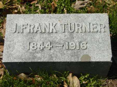 TURNER, J. FRANK - Talbot County, Maryland | J. FRANK TURNER - Maryland Gravestone Photos