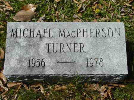 TURNER, MICHAEL MACPHERSON - Talbot County, Maryland | MICHAEL MACPHERSON TURNER - Maryland Gravestone Photos