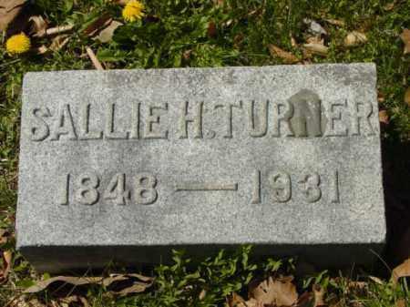 TURNER, SALLIE H. - Talbot County, Maryland | SALLIE H. TURNER - Maryland Gravestone Photos