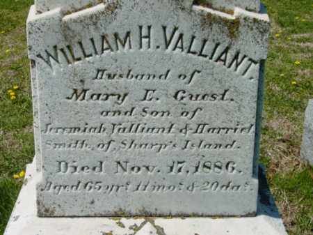 VALLIANT, WILLIAM H. - Talbot County, Maryland | WILLIAM H. VALLIANT - Maryland Gravestone Photos