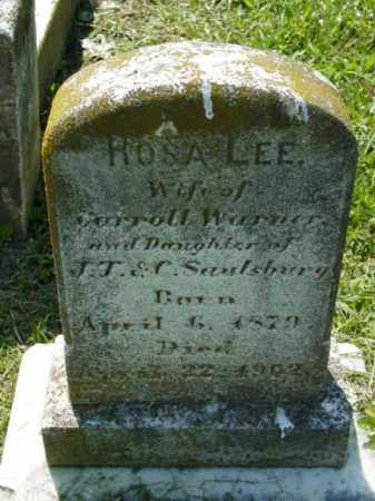WARNER, ROSA LEE - Talbot County, Maryland   ROSA LEE WARNER - Maryland Gravestone Photos