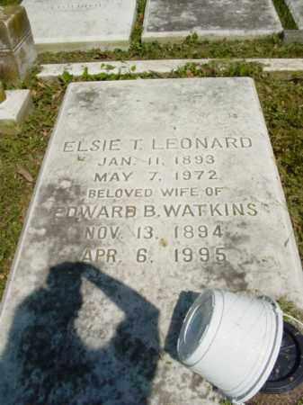 LEONARD WATKINS, ELISE T. - Talbot County, Maryland   ELISE T. LEONARD WATKINS - Maryland Gravestone Photos