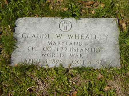 WHEATLEY, CLAUDE W. - Talbot County, Maryland | CLAUDE W. WHEATLEY - Maryland Gravestone Photos