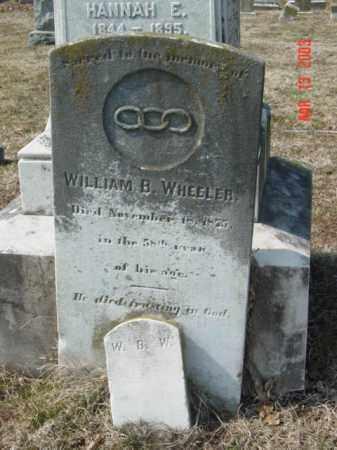 WHEELER, WILLIAM B. - Talbot County, Maryland | WILLIAM B. WHEELER - Maryland Gravestone Photos