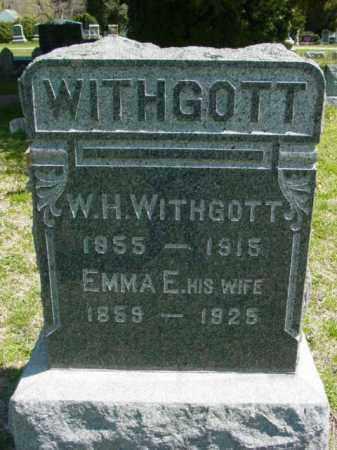 WITHGOTT, W. H. - Talbot County, Maryland | W. H. WITHGOTT - Maryland Gravestone Photos
