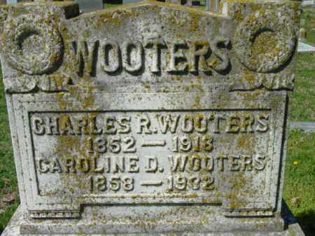 WOOTERS, CHARLES R. - Talbot County, Maryland | CHARLES R. WOOTERS - Maryland Gravestone Photos