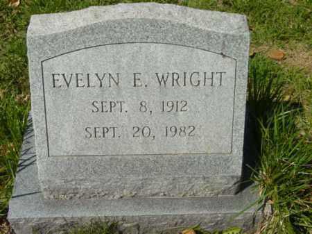 WRIGHT, EVELYN E. - Talbot County, Maryland | EVELYN E. WRIGHT - Maryland Gravestone Photos